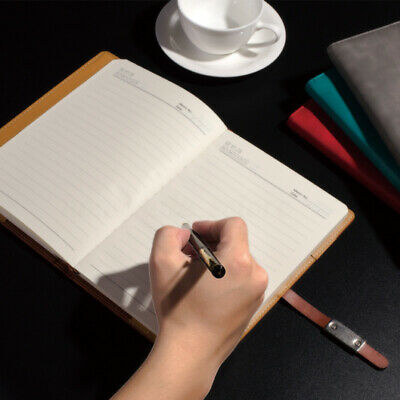 A5 PU Leather Vintage Journal Notebook Lined Paper Diary Planner with Buckle #