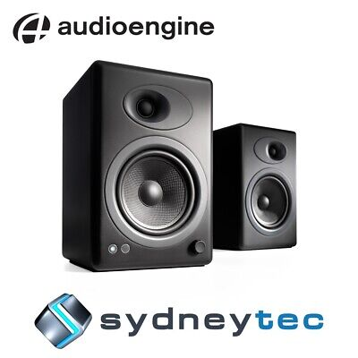 New Audioengine A5+ Powered Bookshelf Speakers - Satin Black