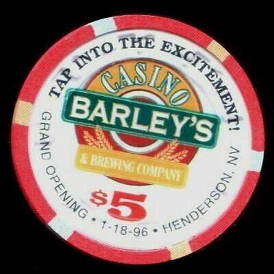 $5 Henderson Barley's Grand Opening 1996 Casino Chip - Uncirculated