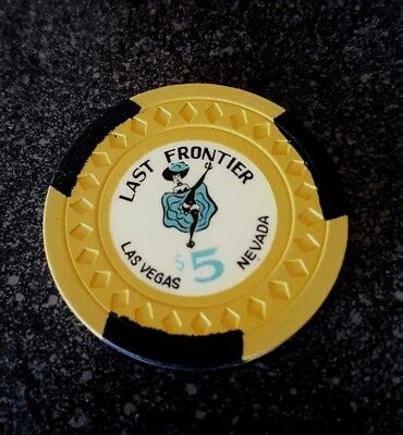 $5 Las Vegas Last Frontier Casino Chip - Near Mint