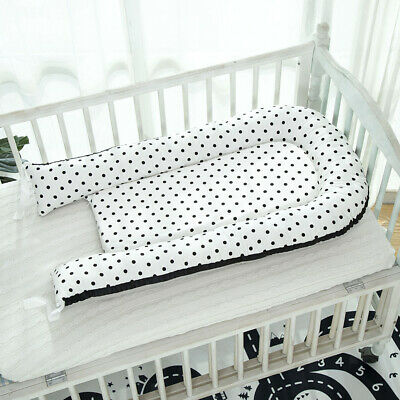 Baby Bassinet Bed 0-3 Years Olds Portable Infant Lounger Nest Dot_Black