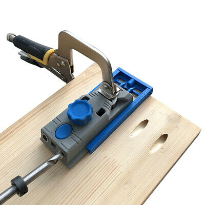 25Pcs Pocket Hole Jig System w/ Drill Bits, Screws, Plugs Joinery Work Tools