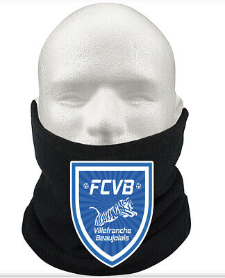Villefranche F.C THERMAL Football Fleece NeckWarmer Gift Mask Snood Scarf
