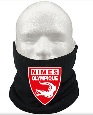 Nîmes Olympique F.C THERMAL Football Fleece NeckWarmer Gift Mask Snood Scarf