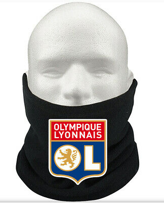 Olympique Lyon F.C THERMAL Football Fleece NeckWarmer Gift Mask Snood Scarf