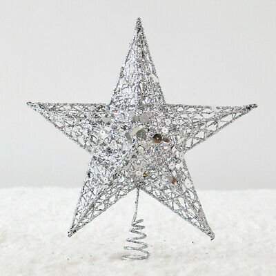 3D Hollow Star Christmas Tree Topper Hang Xmas Decoration Ornament Treetop Decor