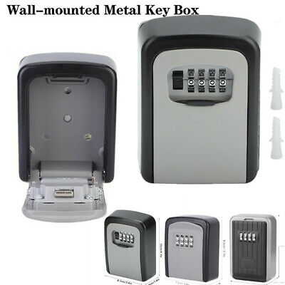 4 Digit Outdoor Security Wall Mounted Car Key Safe Box Code Secure Lock-Storage