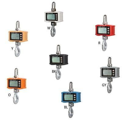 1000KG/2000LBS Digital Crane Scale Heavy Duty Hanging Scale with LCD Display New