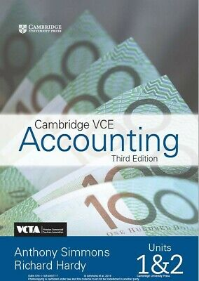 Cambridge Accounting Units 1 and 2 PDF workbook (ISBN: 9781108469777)