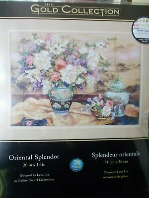 "Embroidery Kit Gold Collection "" Oriental Splendor""  New by Dimensions"