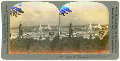 Stereo, USA, Oregon, Portland, Government building from the California building,