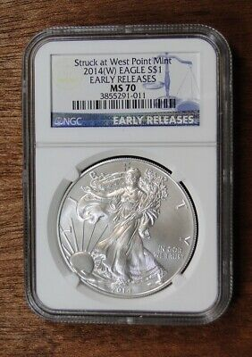 2014 (W) American Silver Eagle ~ Ngc Ms70 ~ Early Releases