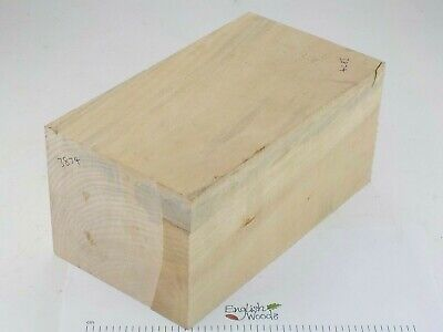 English Lime woodturning or wood carving blank.  123 x 145 x 260mm. 3874