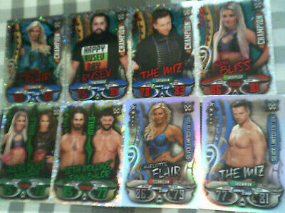 Topps WWE Slam Attax - LIVE - Limited Edition X2 Champions X4 Rivals X2 Cards