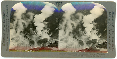 Stereo, Caraïbes, St. Vincent, Soufriere's Mammoth Crater, volcanic terror,