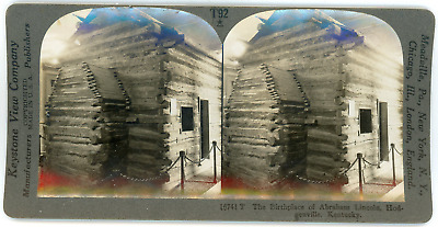Stereo, USA, Kentucky, Hodgenville, The birthplace of Abraham Lincoln, circa 190