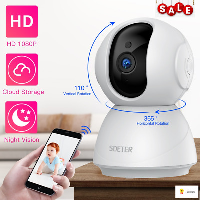 Camera Wifi IP Security Wireless HD Night Vision Home Light Baby Monitor 720p