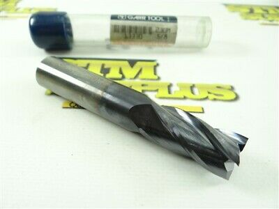 """New! Garr Tool Solid Carbide 4 Flute End Mill 5/8"""" X 5/8"""" X 1-1/4"""" X 3-1/2"""""""