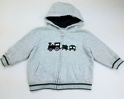GYMBOREE ANCHORS AWAY GRAY w// ANCHORS HOODED JACKET 12 18 2T 4TNWT