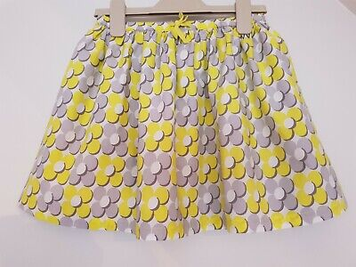 Mini Boden Skirt - Girls - Yellow, Grey, White - Flowers - 7-8 Years - New!!!