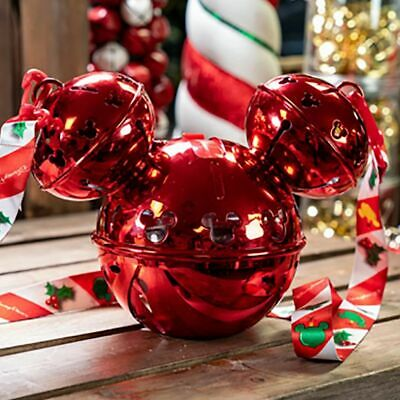 Disney Parks 2019 Christmas Holiday Mickey Jingle Bell Souvenir Sipper NEW