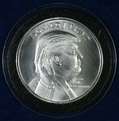 Donald J Trump 45th President White House 1 Oz. Silver Coin