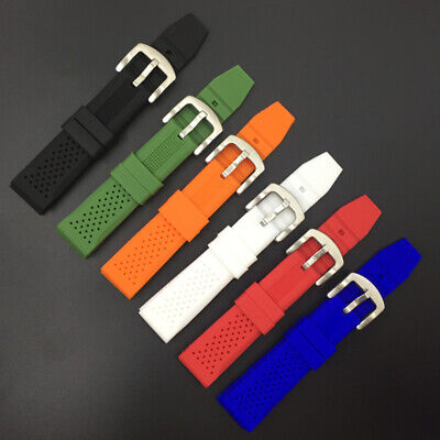 High Quality Silicone Rubber Replacement Belt Wrist Watch Band Strap 16mm-24mm