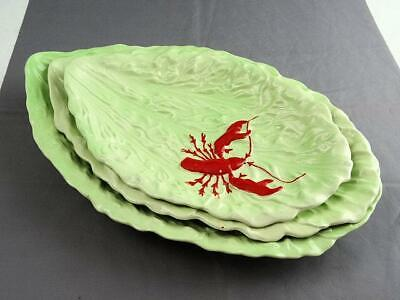 Graduated Set Carlton Ware Australian Red Lobster on Green Leaf Moulded Dishes