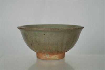 Rare Early Antique Chinese Song Dynasty(?) Celadon Ribbed Bowl
