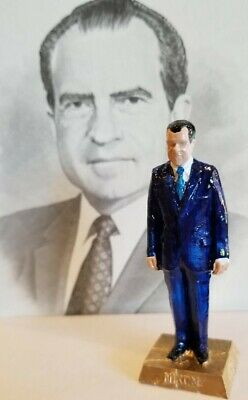 Richard Nixon Figurine With Complete Term Dates - Add To Your Marx Collection