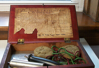 Quack Medical Electrical Shock Therapy Machine J.H. Bunnell & Co. Circa 1880s
