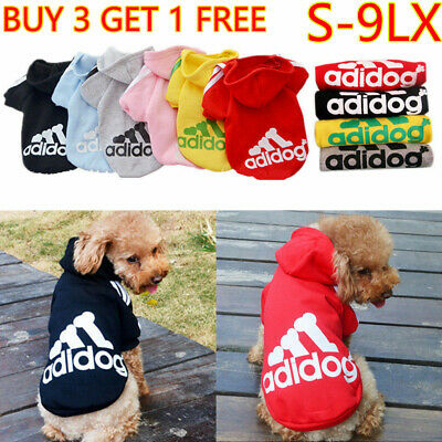 Cute Adidog Hoodies Female/Male Small Dogs Outfits Apparel Dog Clothes Warm New