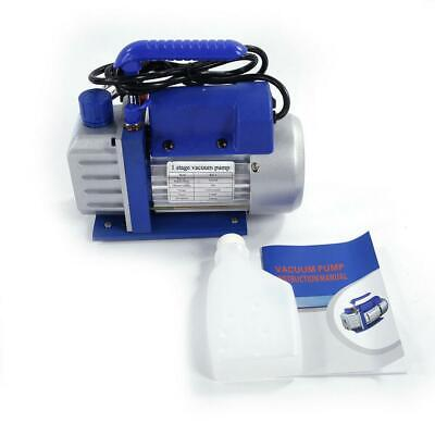 3CFM 1/4HP Electric Vacuum Pump Refrigerant HVAC Deep Vane R410a 200mL Portable