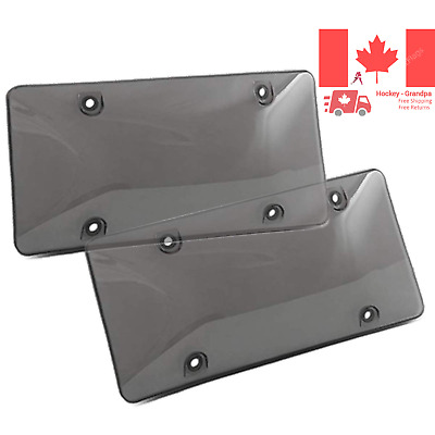 License Plate Cover 2Pack Car Licenses Frame Shields with Screws Caps Smoked ...