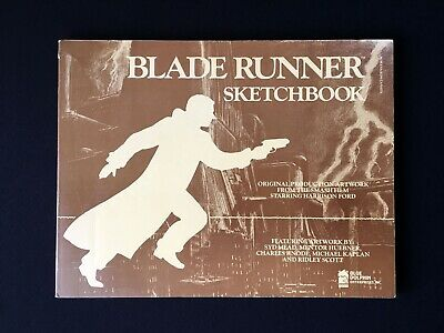 Blade Runner Sketchbook Paperback First Edition 1982 Cult Movie Collectible RARE