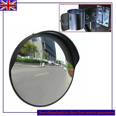 30 cm Wide Angle Mirror Security Curved Convex Road Traffic Driveway Round Safe