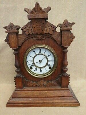 Antique Ansonia Tivoli 8 Day Mantel Clock   (Lot 2)