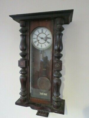Antique German Striking Regulator Wall Clock For Restoration