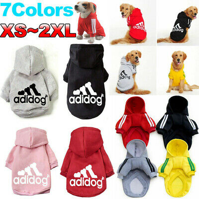 Winter Casual Adidog Pets Dog Clothes Warm Hoodie Coat Jacket Clothing For Dog#