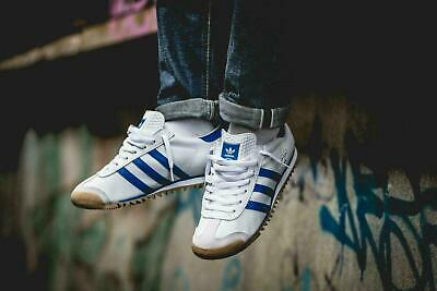 ADIDAS ORIGINALS ROM City Series Mens Retro White Blue