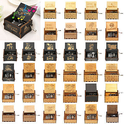Retro Harry Potter Music Box Wood Cranked Music Box Home Crafts Ornaments Decor