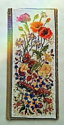 Embroidery Tapestry Wool Work Needlepoint Victorian Flowers Mushrooms