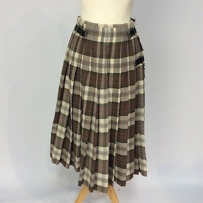 Vintage The Scotch House 100% Pure New Wool Kilt Made In Scotland With Kilt Pin