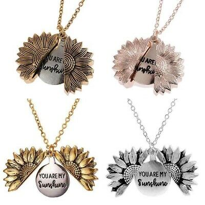 """Sunflower Gifts Necklace Are Locket """"You """"Open AN Women's Sunshine My Pendant UK"""