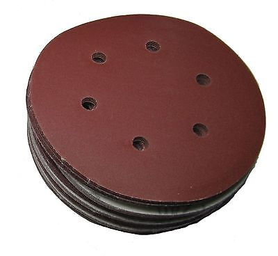 "Rdgtools 6"" Hook And Loop Sanding Discs ( 100 Per Pack ) P120 Grit 150Mm"