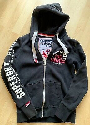 SUPERDRY Girls Ladies Women's Black Zip Through Hoodie Size S (8/10)