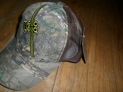 Mello Yello Real Tree Camo Camouflage Outdoor Mens Cap Hat Hunting Strap Back