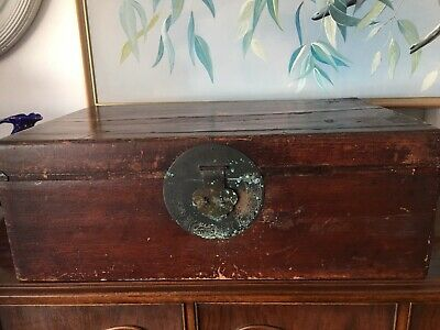 Antique Chinese Travel/ Storage Chest, Bronze Latch