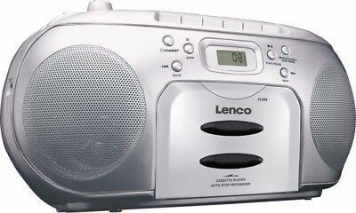 Lenco Radio/CD/Kassetten-Player SCD-420 SILVER Silber Radios-Recorder