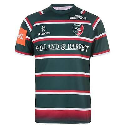 Kukri Leicester Tigers Home Jersey Mens Gents Shirt Short Sleeve Crew Neck